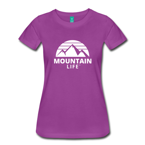 Women's Premium T-Shirt (white) - light purple
