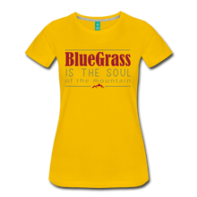 Load image into Gallery viewer, Women's Bluegrass is the Soul T-Shirt - sun yellow