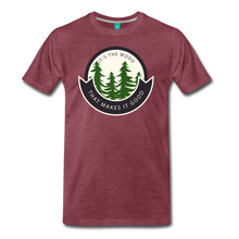 Load image into Gallery viewer, Men's Its the Wood T-Shirt - heather burgundy