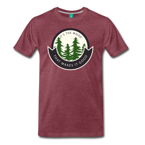 Men's Its the Wood T-Shirt - heather burgundy
