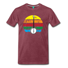 Load image into Gallery viewer, Men's Banjo Rainbow T-Shirt - heather burgundy