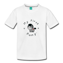 Load image into Gallery viewer, Toddler My First Pony T-Shirt (grey) - white