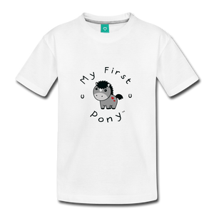 Toddler My First Pony T-Shirt (grey) - white