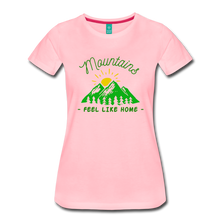 Load image into Gallery viewer, Women's Mountains Feel Like Home T-Shirt - pink