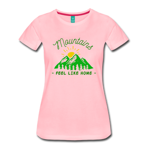 Women's Mountains Feel Like Home T-Shirt - pink