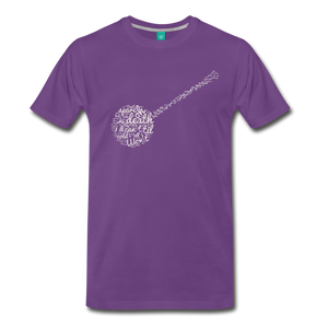 Men's Oh Death T-Shirt - purple