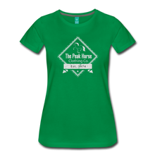 Load image into Gallery viewer, Women's The Peak Horse Diamond T-Shirt - kelly green