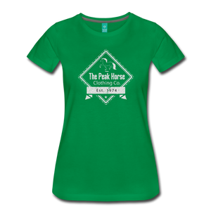 Women's The Peak Horse Diamond T-Shirt - kelly green
