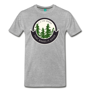 Men's Its the Wood T-Shirt - heather gray