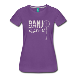 Women's Banjo Girl T-Shirt - purple