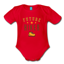Load image into Gallery viewer, Future Hiker Baby Bodysuit - red