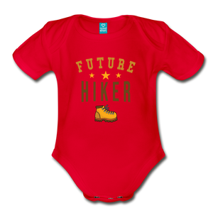 Future Hiker Baby Bodysuit - red