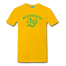 Load image into Gallery viewer, Men's Mountain Life (script) T-Shirt - sun yellow