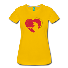 Load image into Gallery viewer, Women's Be a Unicorn Shirt Offset T-Shirt - sun yellow