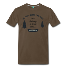 Load image into Gallery viewer, Men's Between Every Two Pines T-Shirt - noble brown