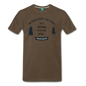 Men's Between Every Two Pines T-Shirt - noble brown