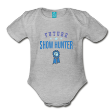 Load image into Gallery viewer, Future Shown Hunter Baby Bodysuit - heather gray