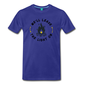 Men's We'll Leave the Light On T-Shirt - royal blue