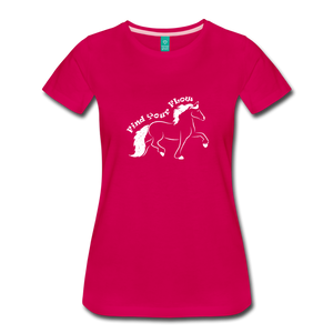 Women's Find Your Flow T-Shirt - dark pink