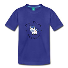Load image into Gallery viewer, Toddler My First Pegasus T-Shirt (white/blue) - royal blue