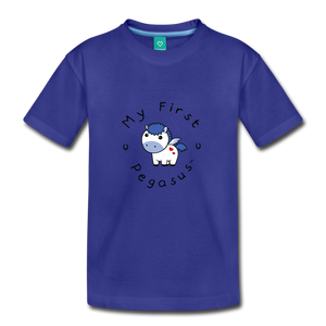 Toddler My First Pegasus T-Shirt (white/blue) - royal blue