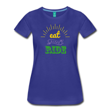 Load image into Gallery viewer, Women's Eat Sleep Ride T-Shirt - royal blue