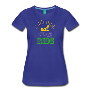 Women's Eat Sleep Ride T-Shirt - royal blue
