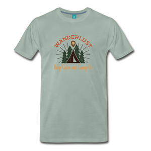 Men's Keep Calm, Camp On - steel green