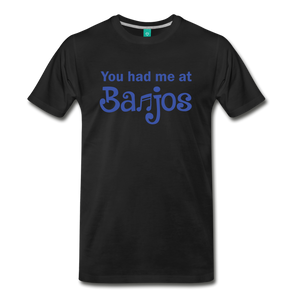 Men's You Had me at Banjos T-Shirt - black