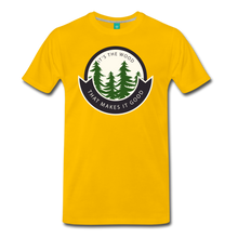 Load image into Gallery viewer, Men's Its the Wood T-Shirt - sun yellow