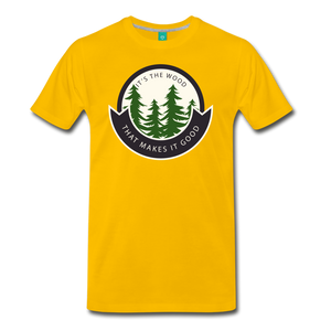 Men's Its the Wood T-Shirt - sun yellow