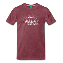 Load image into Gallery viewer, Men's Wanderlust T-Shirt (white) - heather burgundy