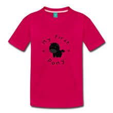 Load image into Gallery viewer, Toddler My First Pony T-Shirt (black) - dark pink