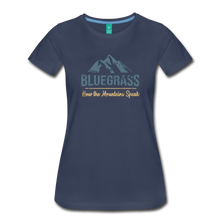 Load image into Gallery viewer, Women's Bluegrass Mountains Speak T-Shirt - navy