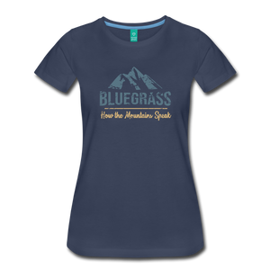 Women's Bluegrass Mountains Speak T-Shirt - navy