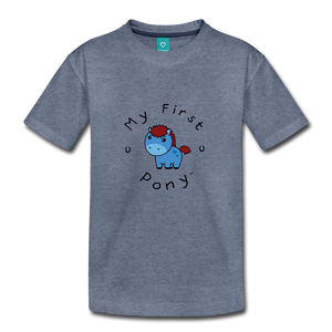 Toddler My First Pony T-Shirt (blue) - heather blue