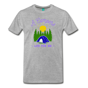 Men's Campers Life T-Shirt - heather gray