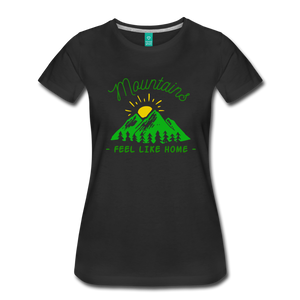 Women's Mountains Feel Like Home T-Shirt - black