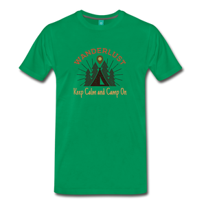 Men's Keep Calm, Camp On - kelly green