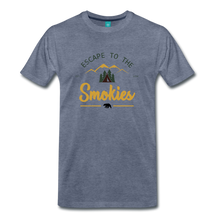 Load image into Gallery viewer, Men's Escape to the Smokies T-Shirt - heather blue