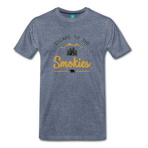 Men's Escape to the Smokies T-Shirt - heather blue