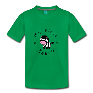 Kids' My First Zebra T-Shirt - kelly green