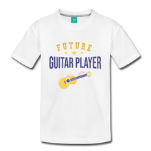 Load image into Gallery viewer, Kids' Guitar Player T-Shirt - white