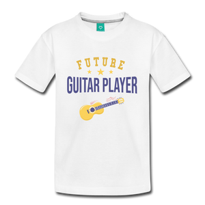 Kids' Guitar Player T-Shirt - white