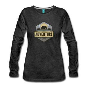 Women's Adventure Life Long Sleeve Shirt - charcoal gray