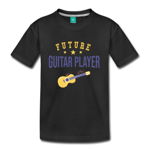 Kids' Guitar Player T-Shirt - black