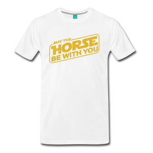 Men's May The Horse be with You T-Shirt - white
