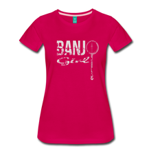 Load image into Gallery viewer, Women's Banjo Girl T-Shirt - dark pink