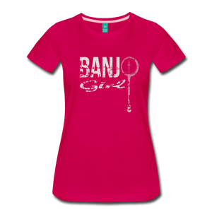 Women's Banjo Girl T-Shirt - dark pink