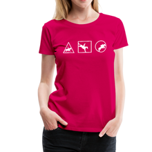 Load image into Gallery viewer, Women's Horse Symbols (solid) T-Shirt - dark pink